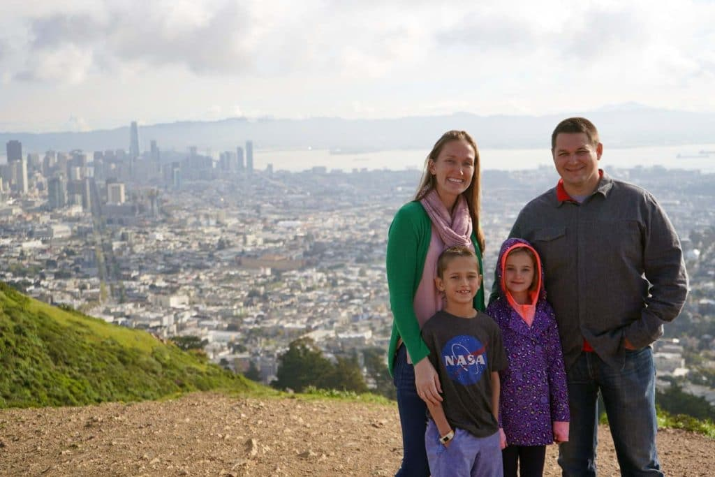 Family Travel Blogger Erin Buhr of Bambini Travel and her family.